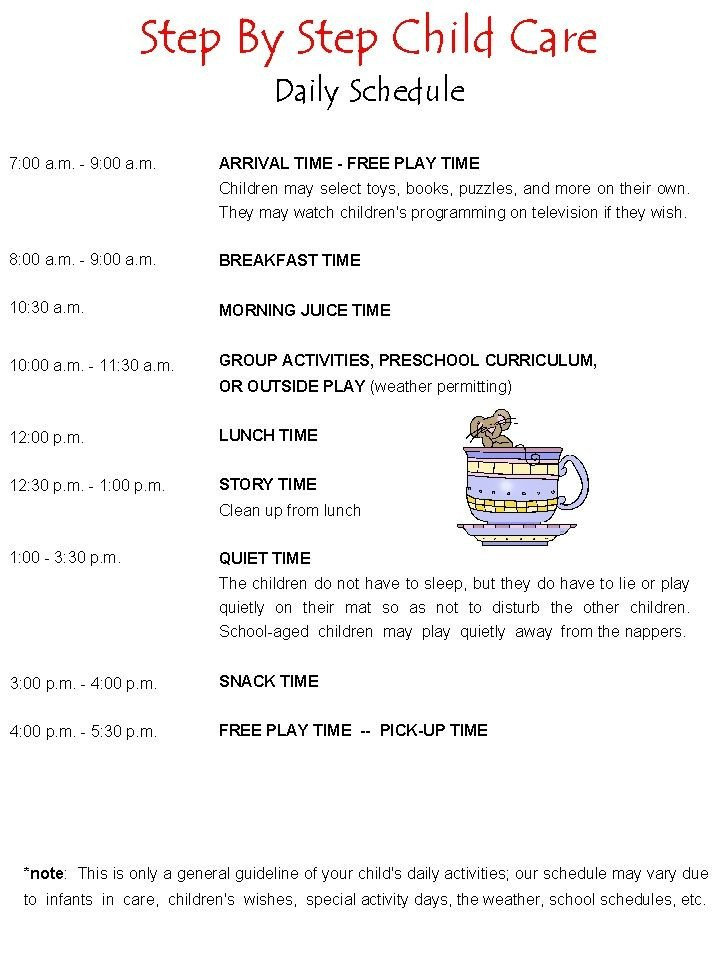 Preschool Daily Schedule Template 39 Best Preschool Play School and Daycare Day Planning