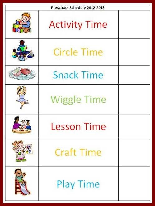 Preschool Daily Schedule Template Best 25 Daily Schedule Template Ideas On Pinterest