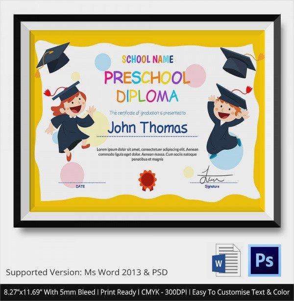 Preschool Graduation Programs Template 20 Graduation Certificates Psd Word Ai Indesign