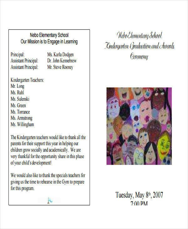 6 Sample Graduation Programs PDF Word