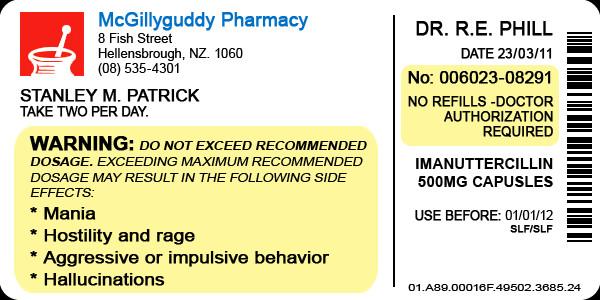 Prescription Bottle Label Generator Medicine Bottle Label Template