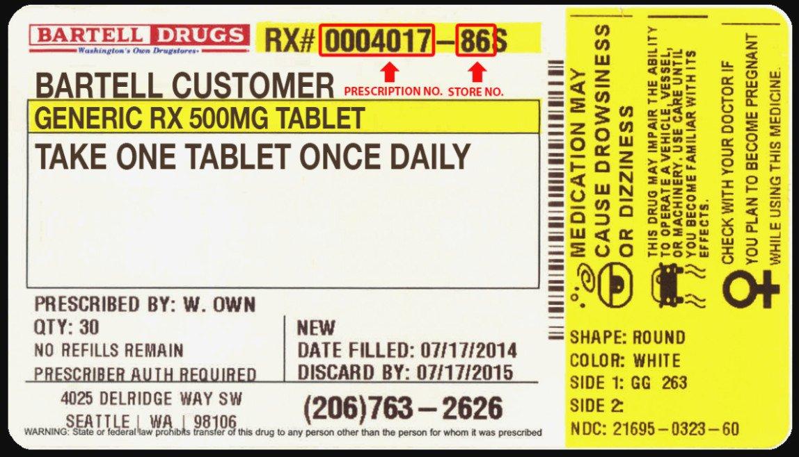 Prescription Bottle Label Generator Seven Clarifications Drug