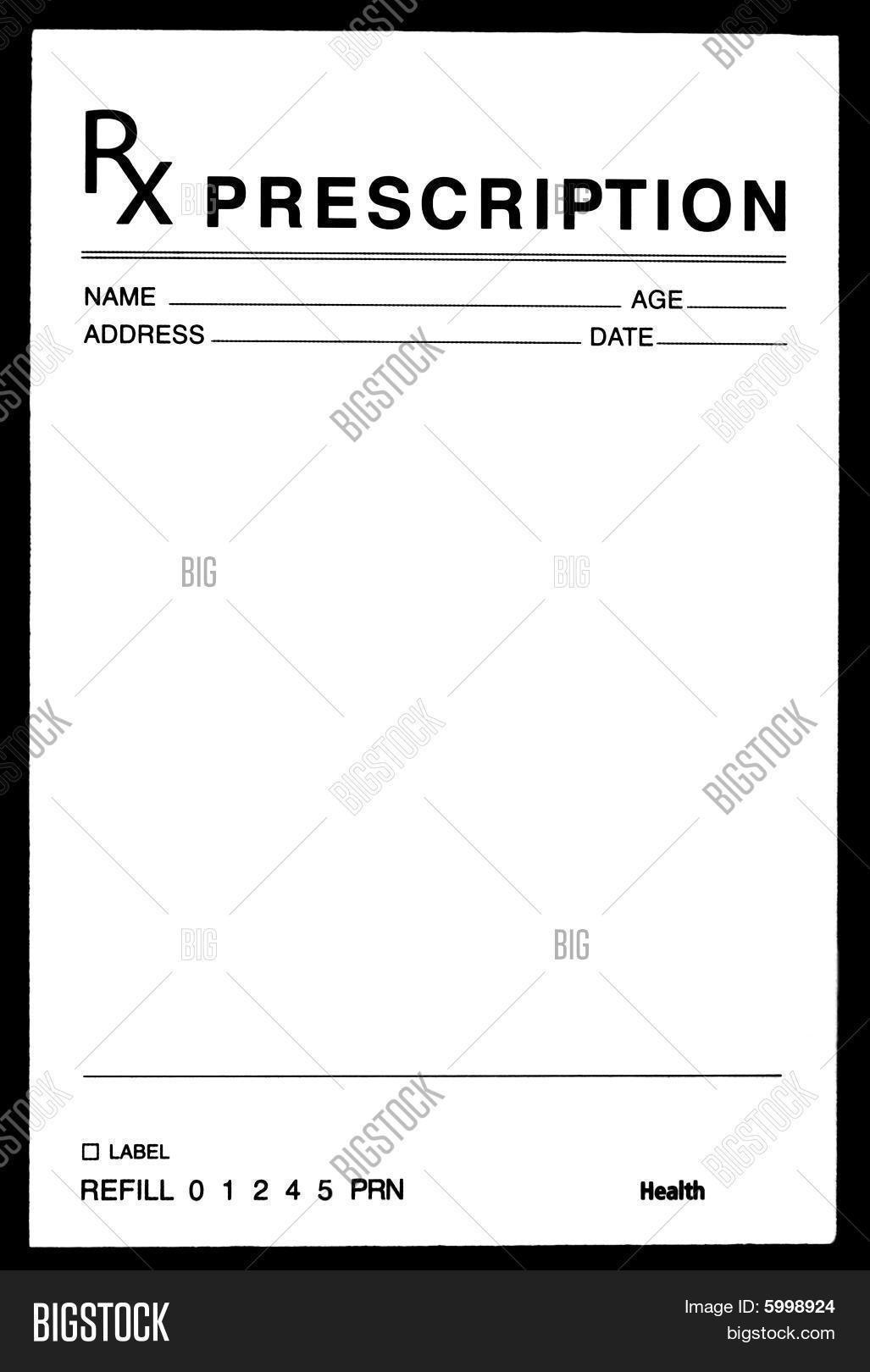 Prescription Pad Template Microsoft Word Blank Prescription form Image Cg5p C