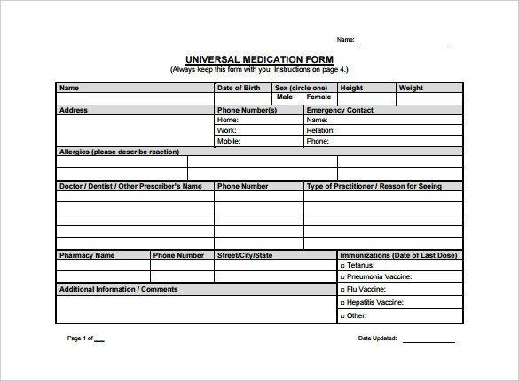 Prescription Template Microsoft Word 10 Doctor Prescription Templates Pdf Doc