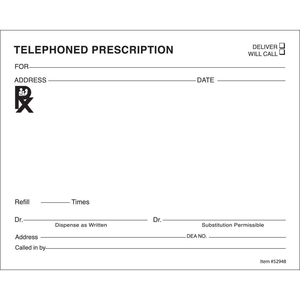 Prescription Template Microsoft Word 14 Prescription Templates Doctor Pharmacy Medical