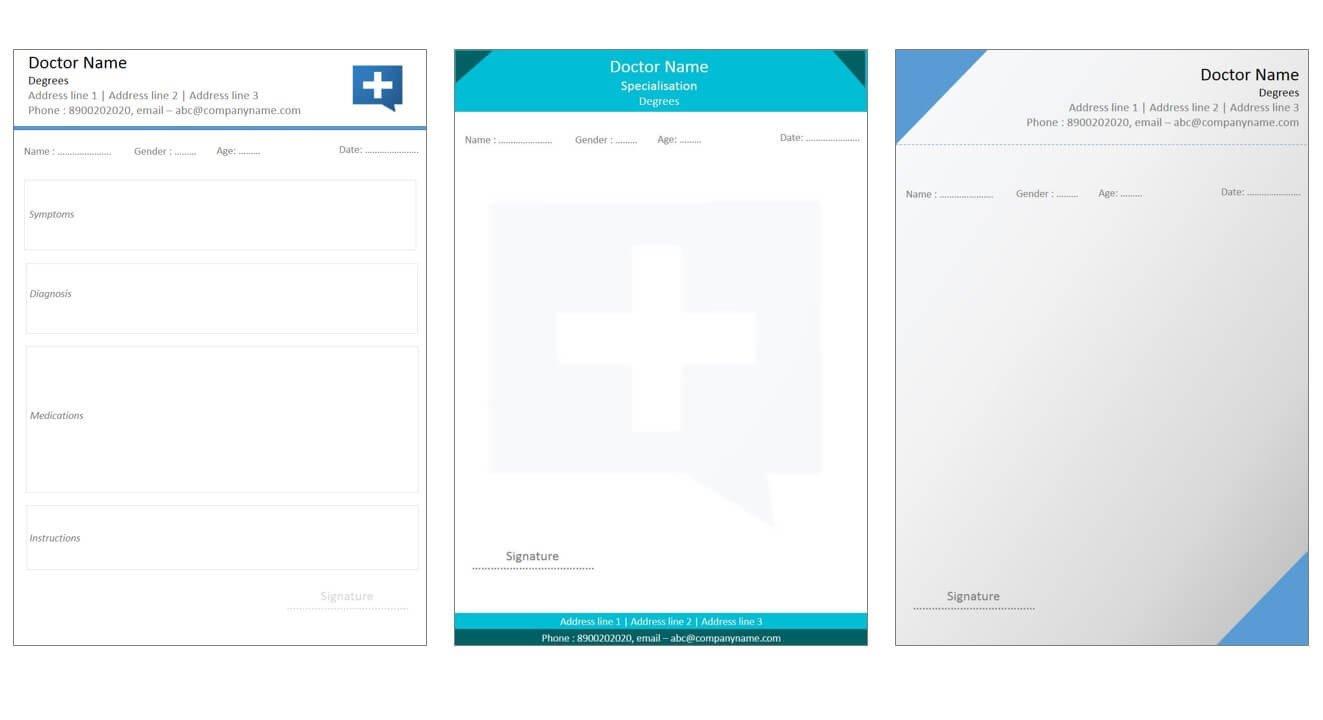 Prescription Template Microsoft Word Designs for Medical Prescription Template – Indoclinic Blog