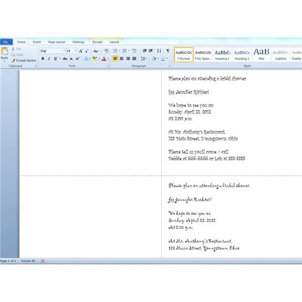 Prescription Template Microsoft Word Printing Wedding Shower Invitations Using Avery 3378