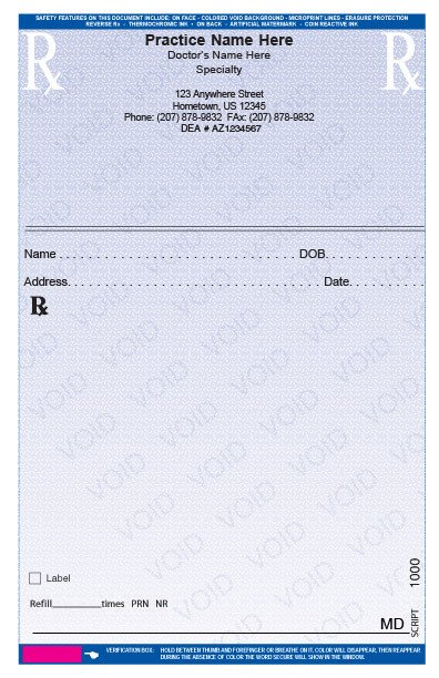 Prescription Template Microsoft Word Rxpads Home Prescription Pads