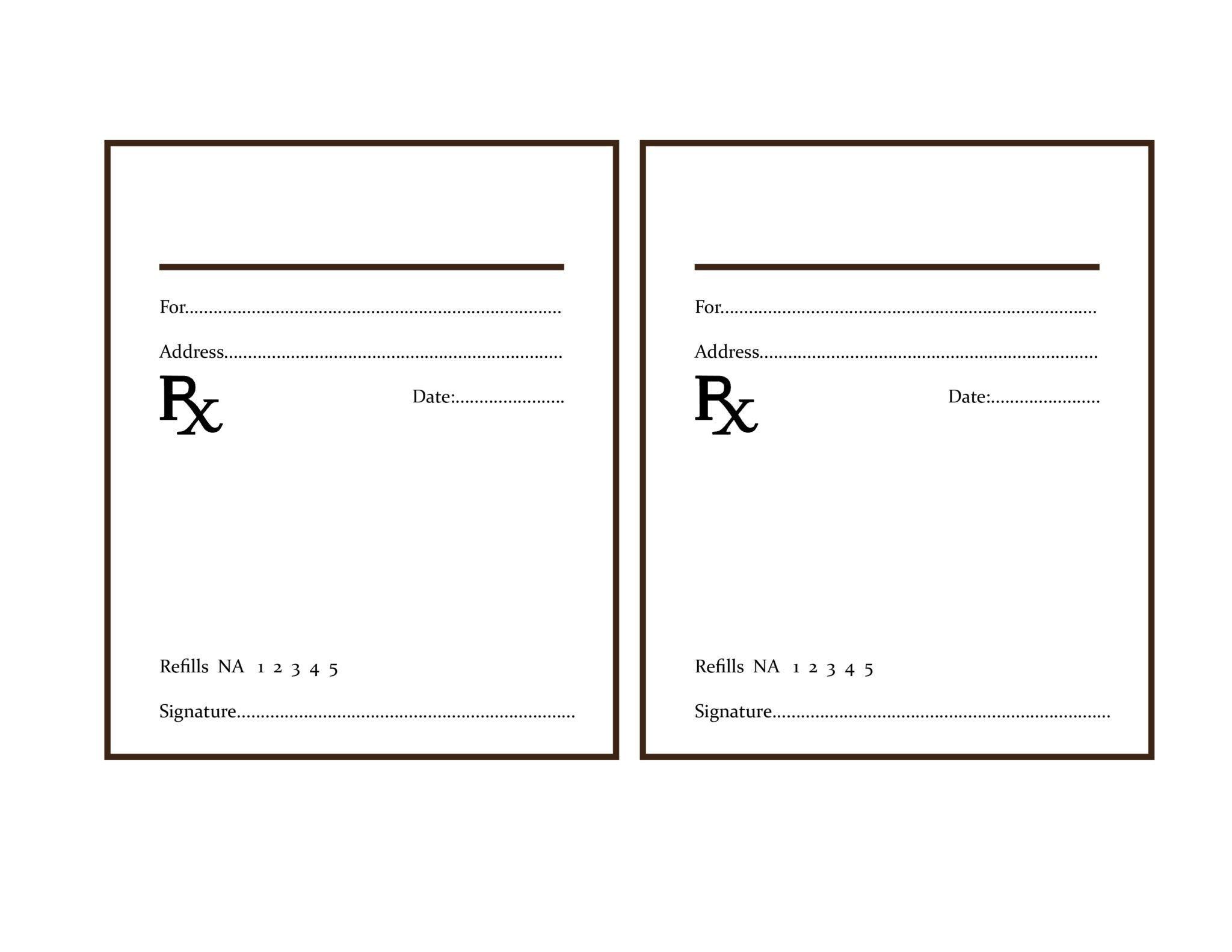 Prescription Template Microsoft Word the Delight Of Paper
