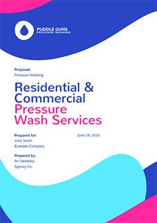 Pressure Washing Proposal Template Free Business Proposal Templates