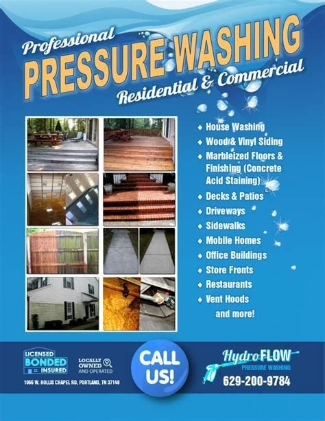 Pressure Washing Proposal Template Image Result for Pressure Washing Flyers Templates Free