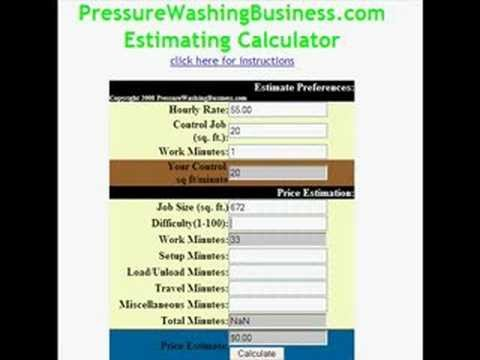 Pressure Washing Proposal Template Pressure Washing Business software Estimating Example