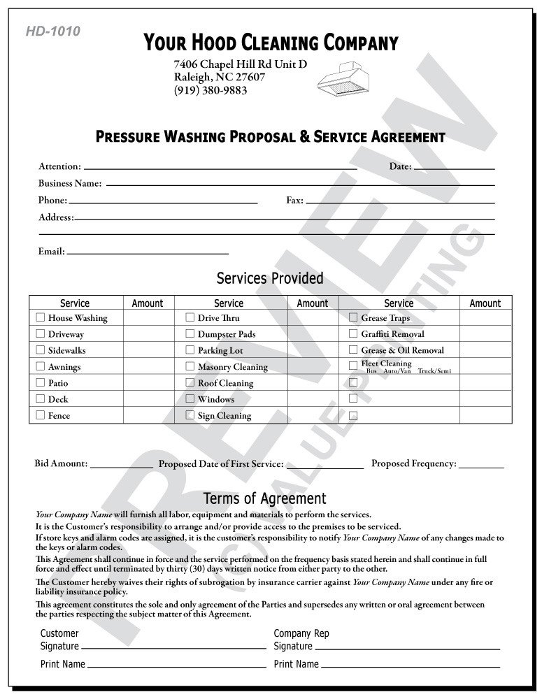 Pressure Washing Proposal Template