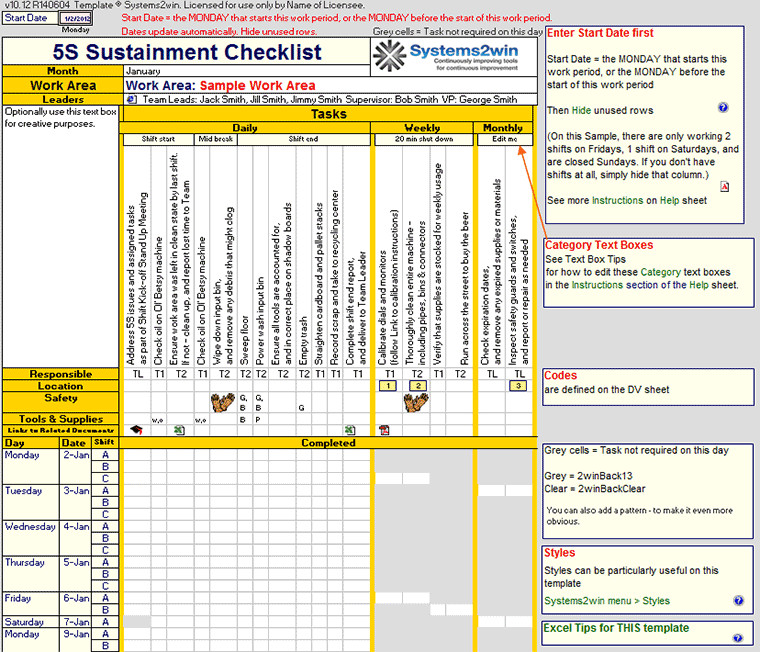 Preventive Maintenance Schedule Template Excel Preventive Maintenance Plan Sample