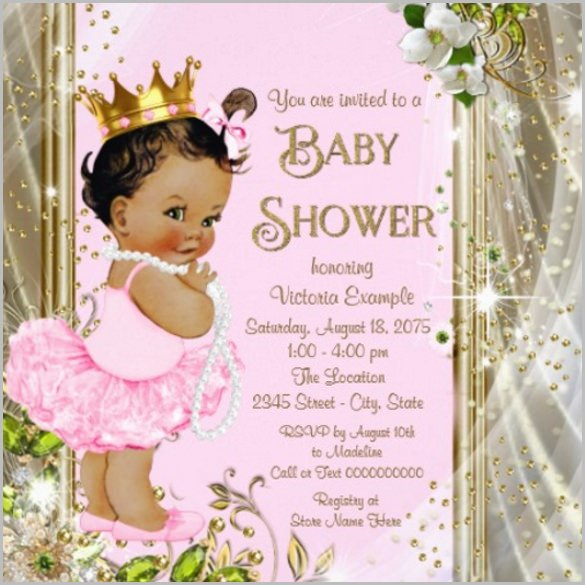 Princess Baby Shower Invitations Templates Baby Shower Invitation Template 29 Free Psd Vector Eps