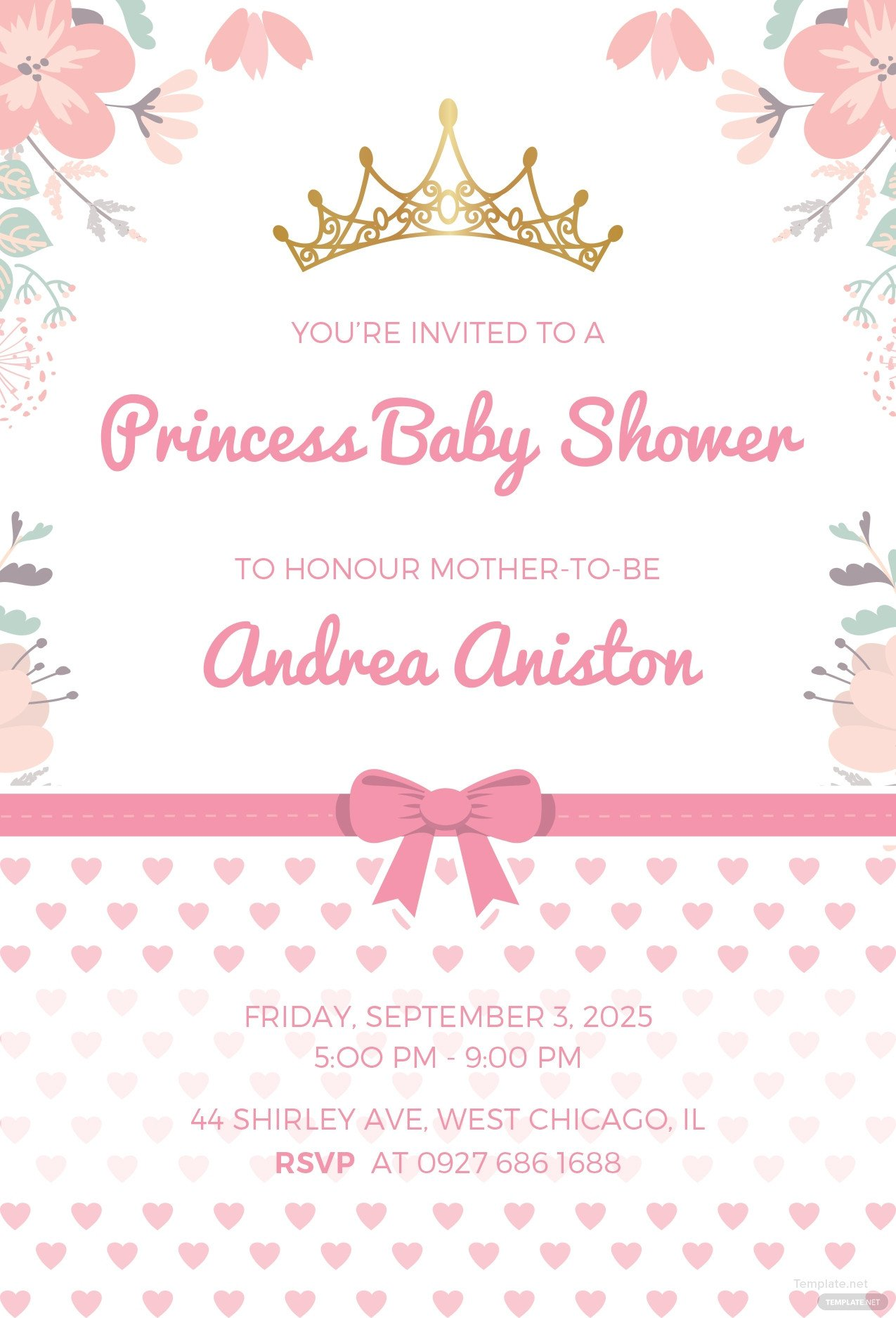 Princess Baby Shower Invitations Templates Free Princess Baby Shower Invitation Template In Microsoft