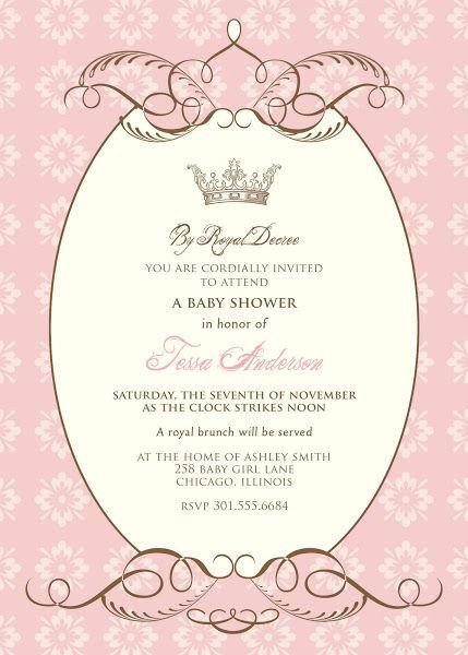 Princess Baby Shower Invitations Templates Pinterest • the World's Catalog Of Ideas