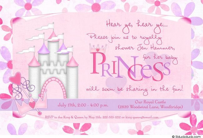 Princess Baby Shower Invitations Templates Princess Baby Shower Invitation
