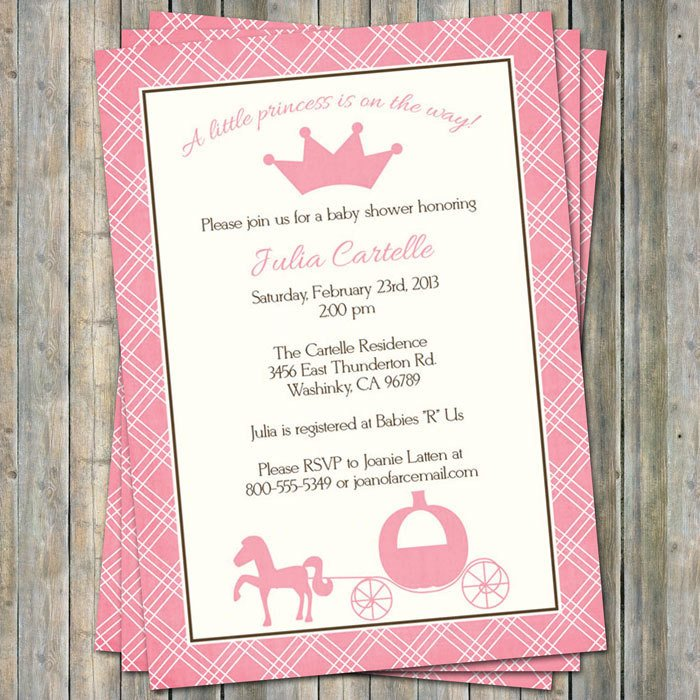 Princess Baby Shower Invitations Templates Princess Baby Shower Invitations Digital Printable File