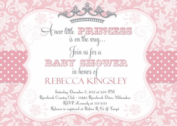 Princess Baby Shower Invitations Templates Princess themed Baby Shower Ideas