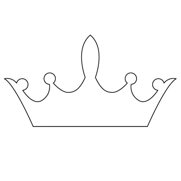 Princess Crown Cut Out 25 Best Ideas About Crown Template On Pinterest