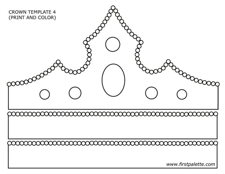 Princess Crown Cut Out Paper Crown Template Google Search Primary