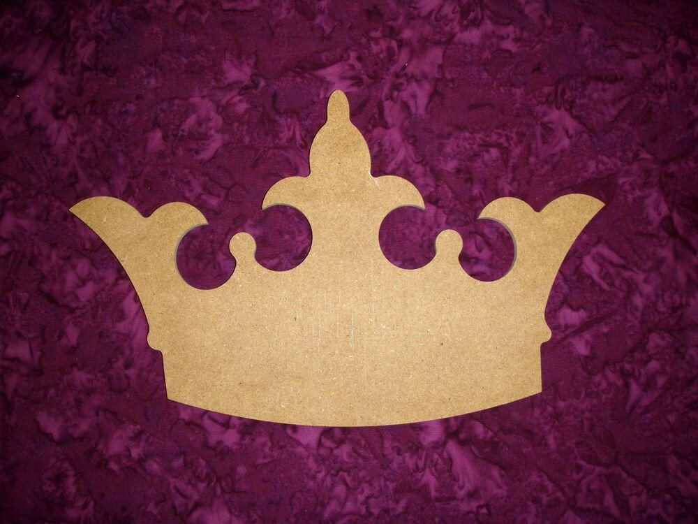 Princess Crown Cut Out Princess Crown Shape Wood Cut Out Unfinished Wooden Mdf