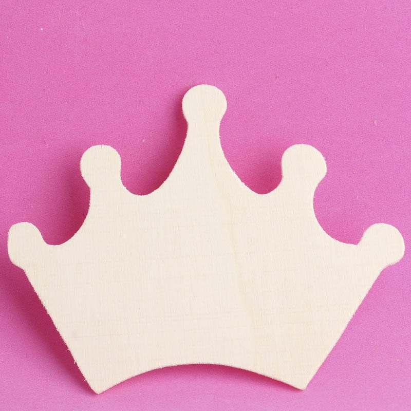 Princess Crown Cut Out Unfinished Wood Princess Crown Cutout Birthday Party