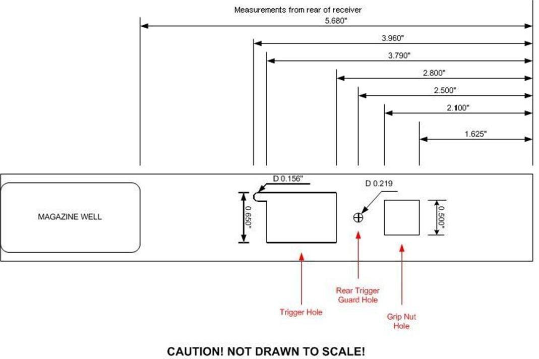 Printable Ak 47 Receiver Template Ak 47 Receiver Blueprint Frompo 1