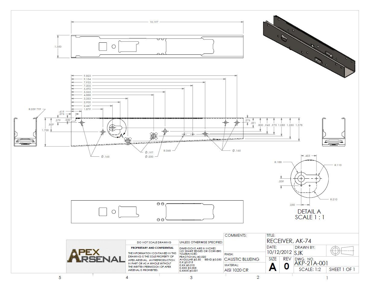 Printable Ak 47 Receiver Template Ak 74 Print by Gundamgpo3 On Deviantart
