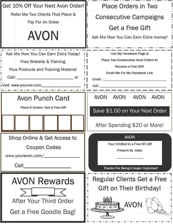 Printable Avon order forms 29 Best Free Avon Printables Images On Pinterest