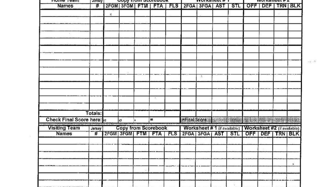 Printable Basketball Stat Sheet Basketball Stat Sheets and forms