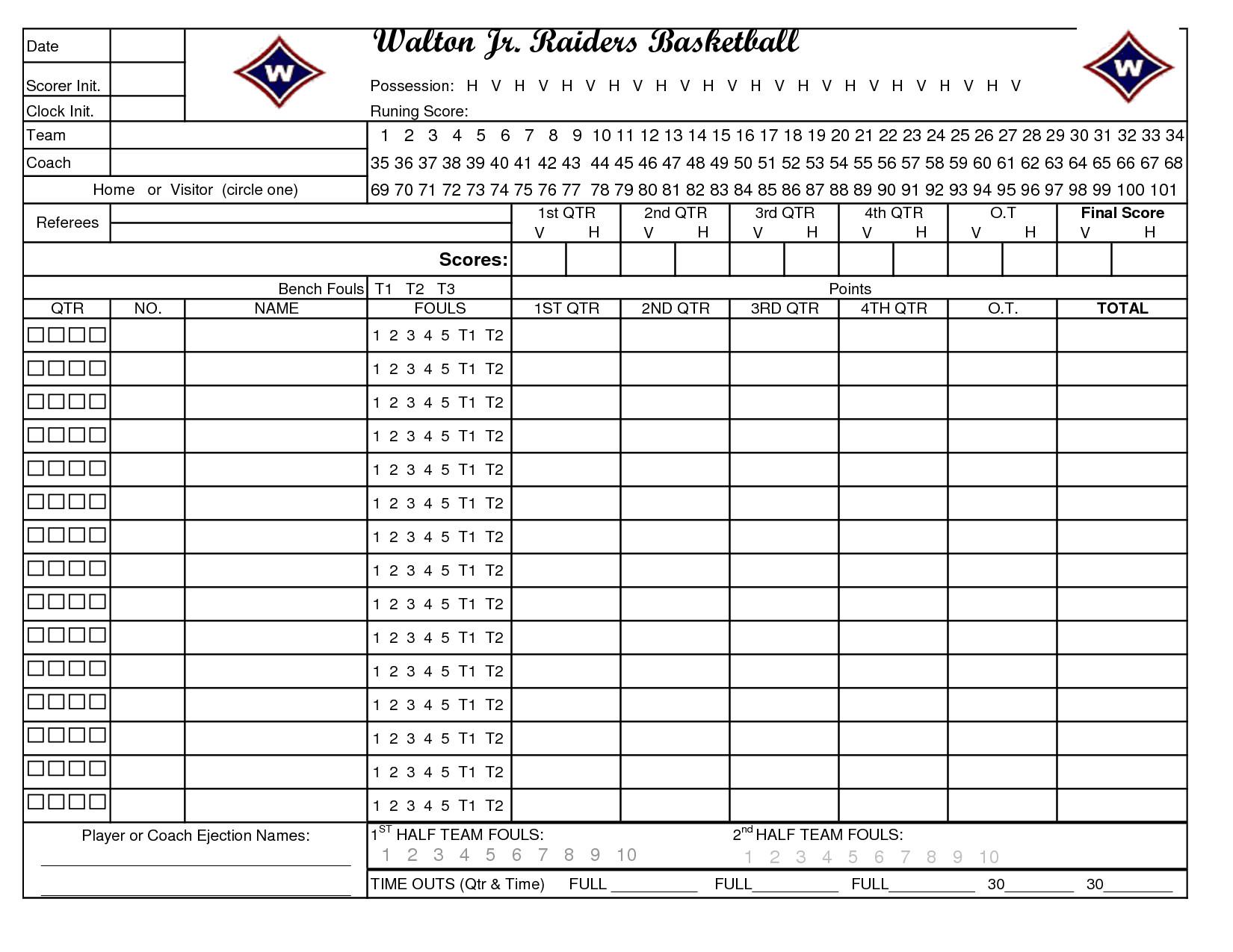Printable Basketball Stat Sheet Printable Basketball Stat Sheet New Calendar Template Site