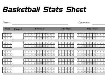 Printable Basketball Stat Sheet Printable Basketball Stats Sheet by Basketballxpert