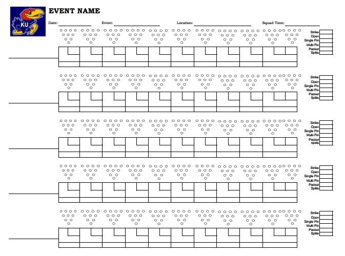 Printable Bowling Score Sheet Download Printable Bowling Score Sheet with Pins