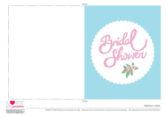 FREE Bridal Shower Party Printables from Love Party