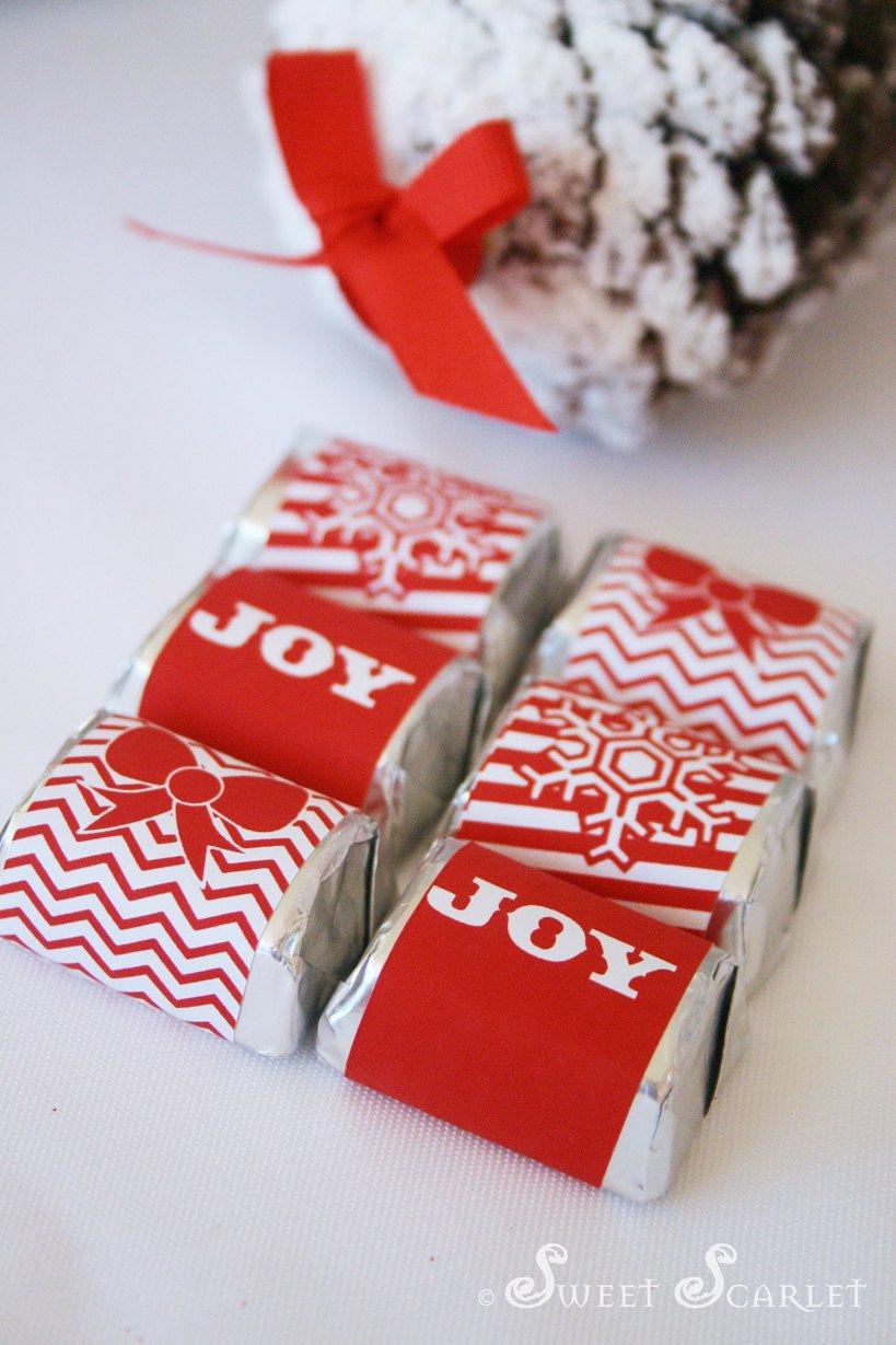 Printable Candy Bar Wrappers Christmas Printable Candy Bar Wrappers and Straw Flags Let