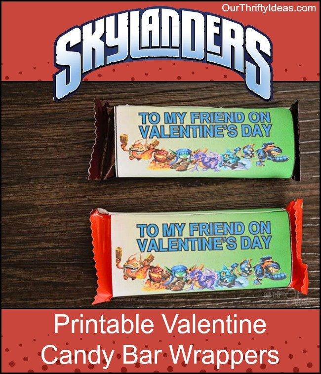 Printable Candy Bar Wrappers Free Skylanders Valentine Printable Candy Bar Wrapper
