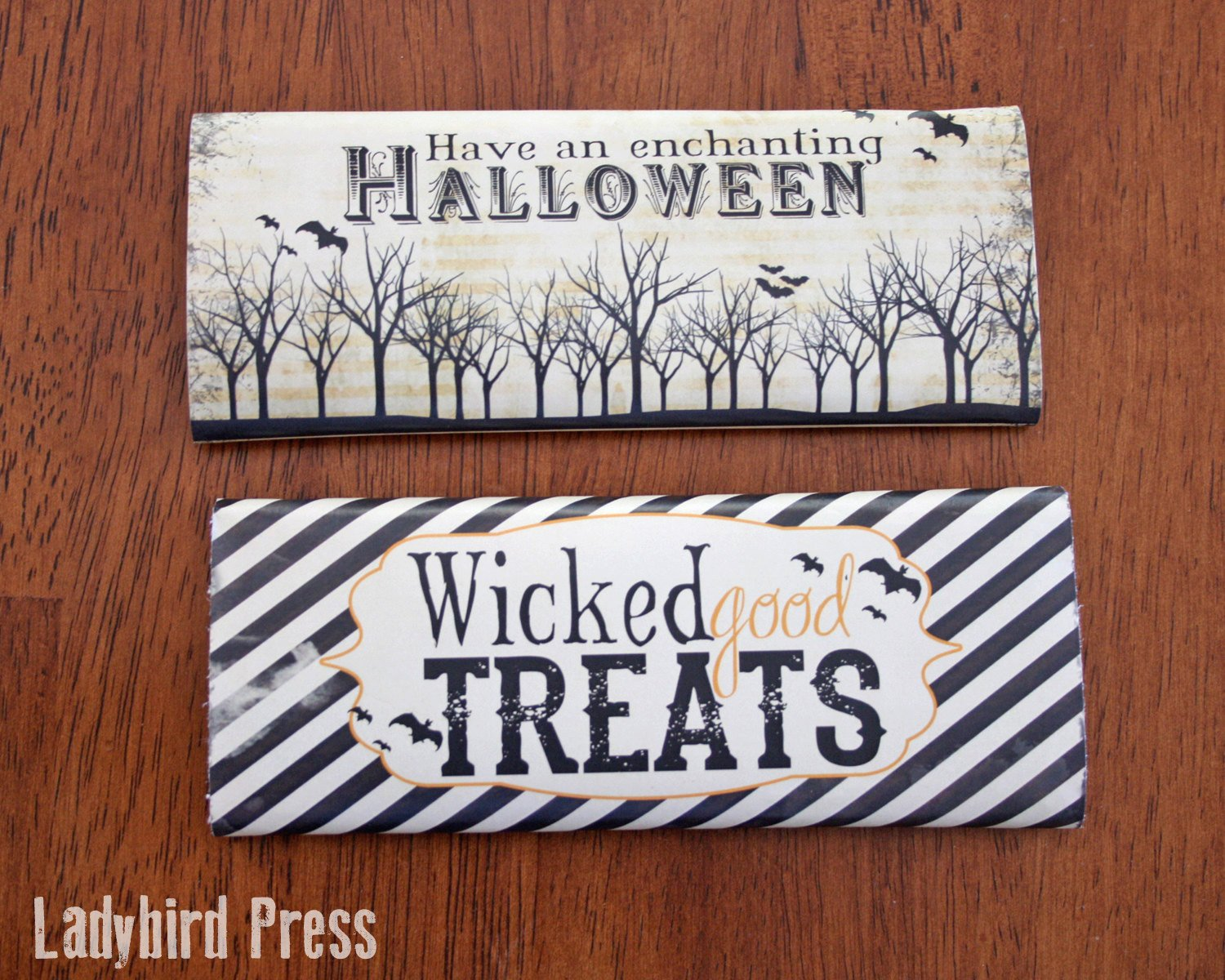 Printable Candy Bar Wrappers Printable Halloween Candy Bar Wrappers Instant