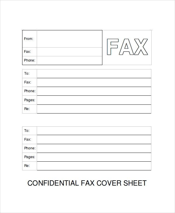Printable Confidential Cover Sheet 9 Fax Cover Sheet Examples & Templates