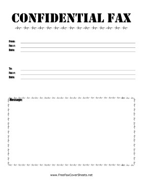 Printable Confidential Cover Sheet Barbed Wire Confidential Fax Fax Cover Sheet at
