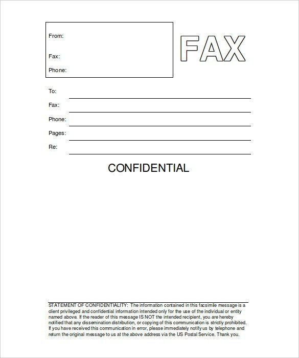 Printable Confidential Cover Sheet Fax Templates for Word Image – Cover Letter Fax How to