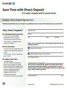 Printable Direct Deposit form General Bill Of Sale form Free Download Create Edit