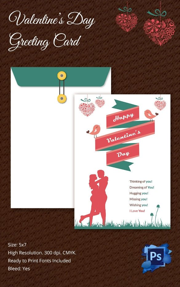 Printable Greetings Cards Templates 60 Happy Valentines Day Cards Psd Designs