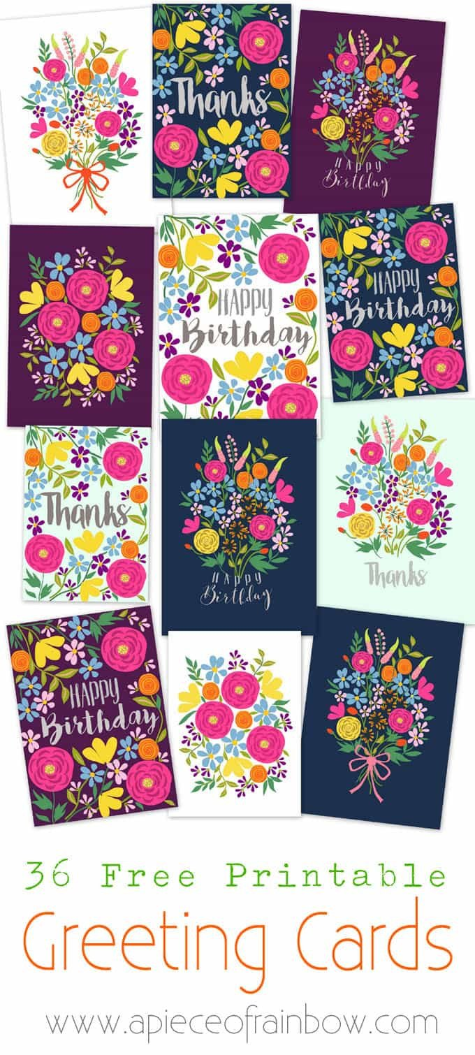 Printable Greetings Cards Templates Free Printable Happy Birthday Card with Pop Up Bouquet A