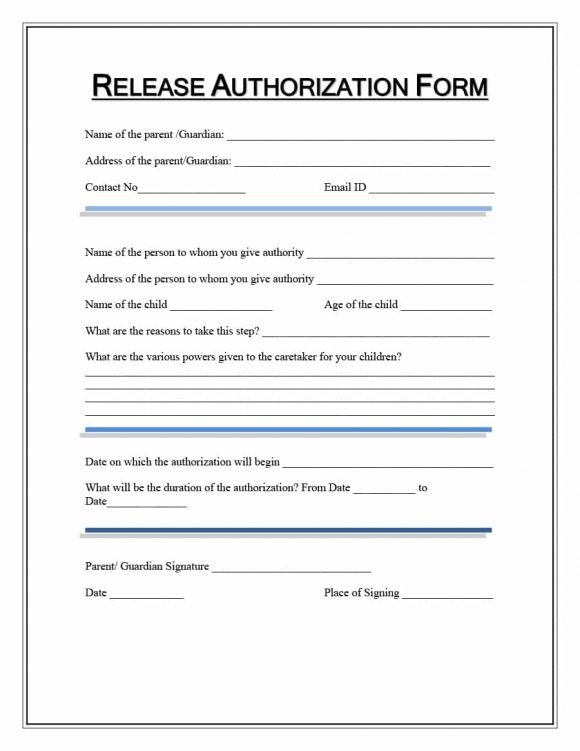 Printable Medical Release form 40 Medical Records Release form Release Of Information