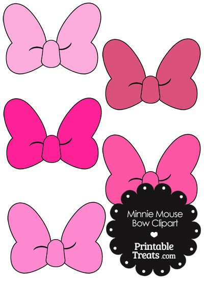 Printable Minnie Mouse Bow Minnie Mouse Bow Clipart In Shades Of Pink — Printable