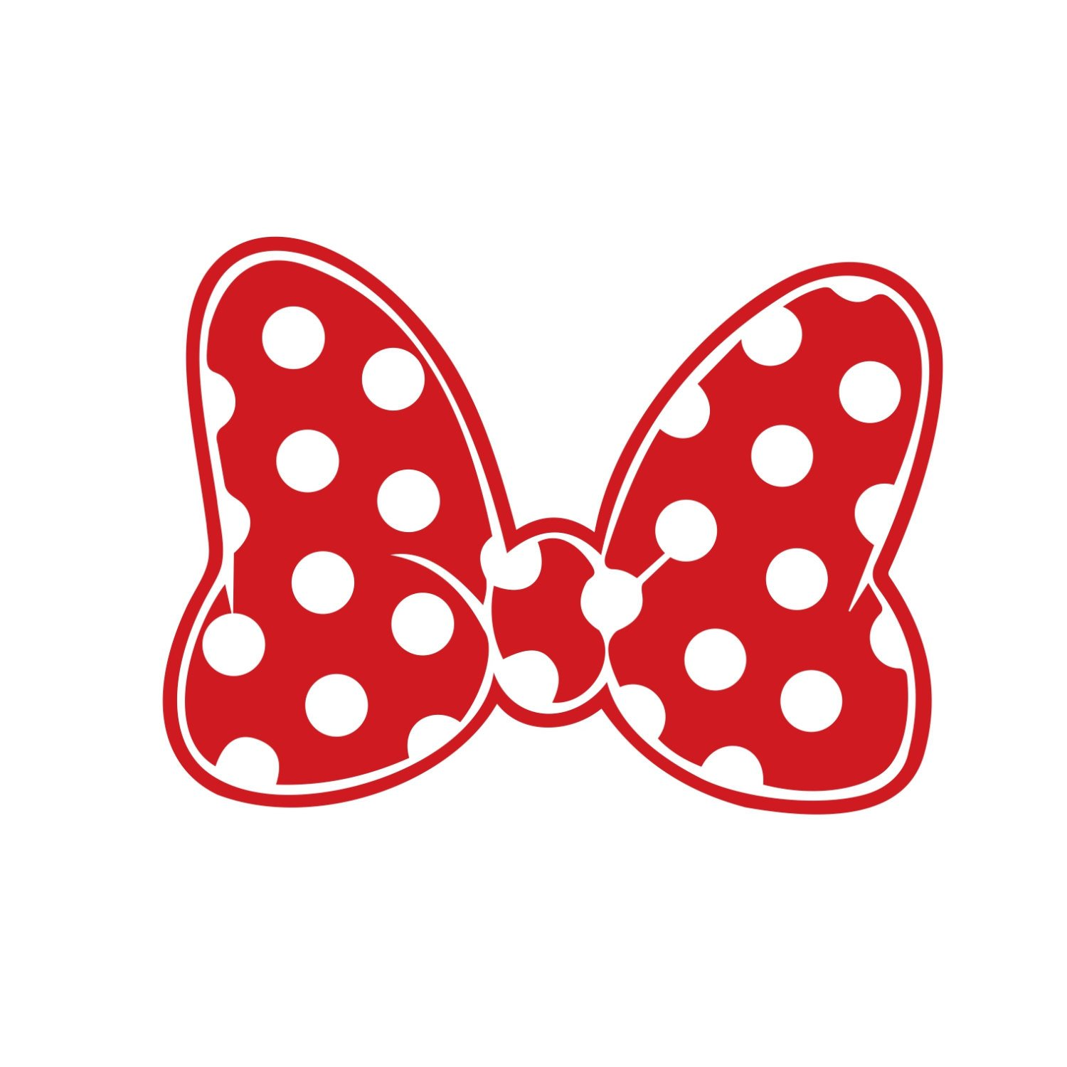 Printable Minnie Mouse Bow Minnie Mouse Polka Dot Bow Graphics Design by Vectordesign