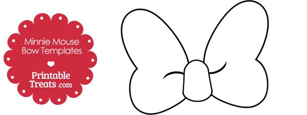 Printable Minnie Mouse Bow Template — Printable Treats