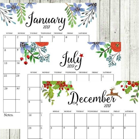 Printable Monthly Calendar Template 2017 Free Printable Monthly Calendar Sutton Place
